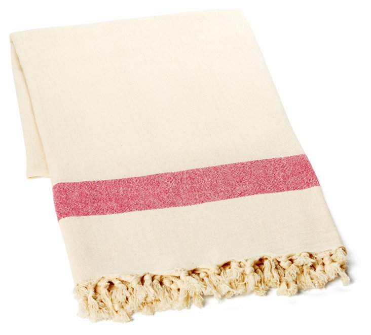 Double Knotted Bamboo Towel, Pink