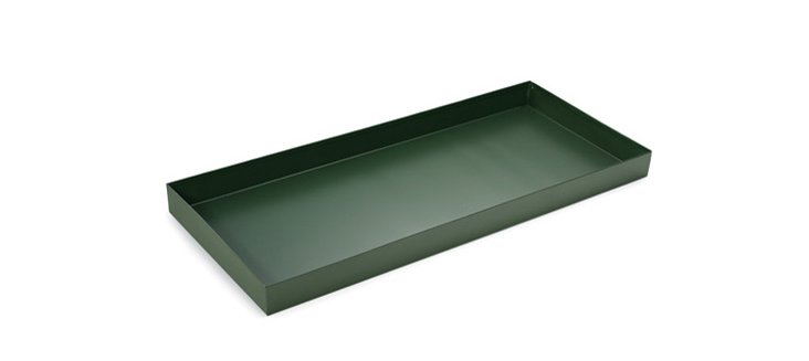 Powder-Coated Steel Boot Tray, Green