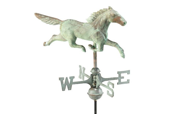 Verdigris Copper Stallion Weathervane