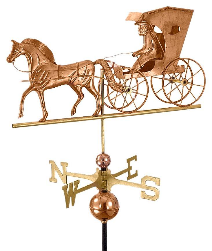 "26"" Horse & Carriage Weather Vane"