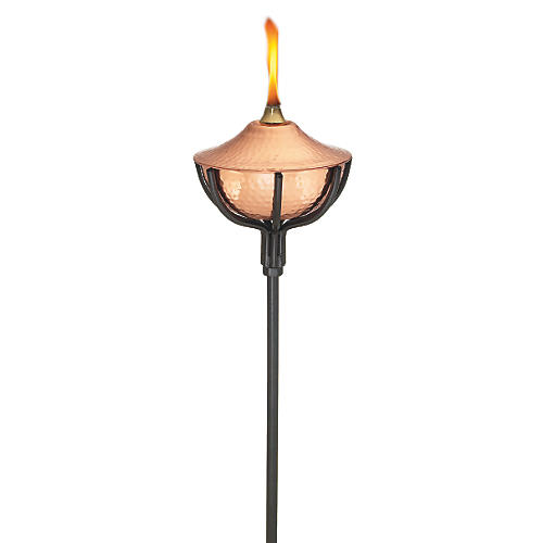 "S/4 60"" Copper Torches, Polished"