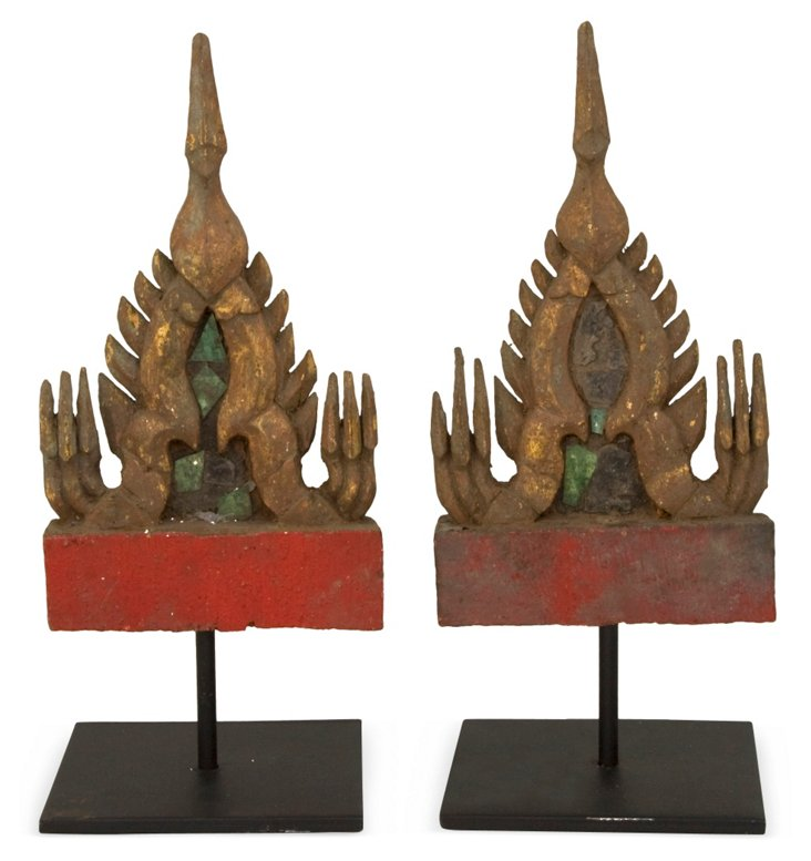 Thai Spirit House Fragments, Pair I