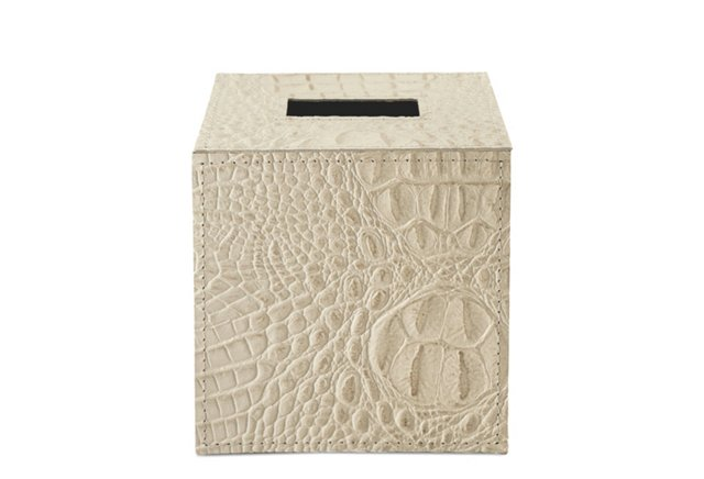Ivory Alligator Tissue Box