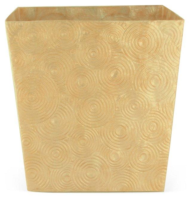 Soleil Wastebasket, Dark Gold