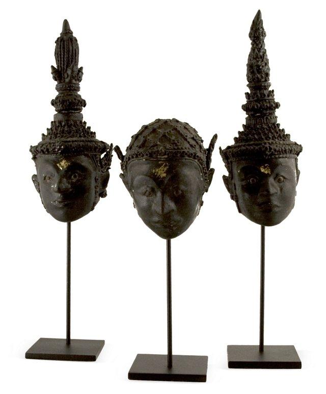 Thai Khon Masks, Set of 3