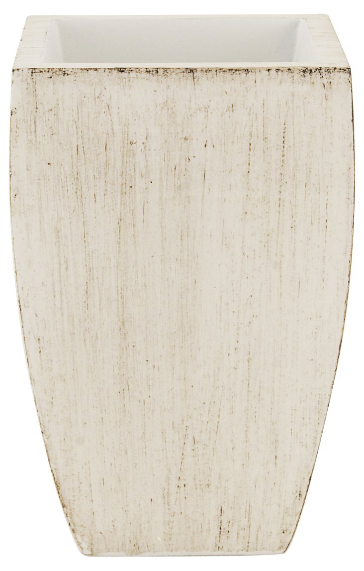 Brushed White Lacquer Amenity Cup