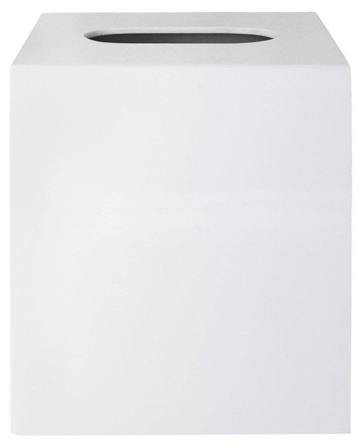 White Lacquer Tissue Box