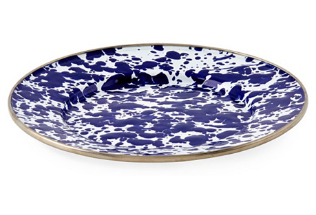 S/4 Sandwich Plates, Cobalt Swirl