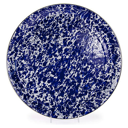 Enamelware Medium Tray, Cobalt