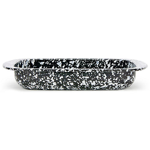 Swirl Baking Pan, Black/White