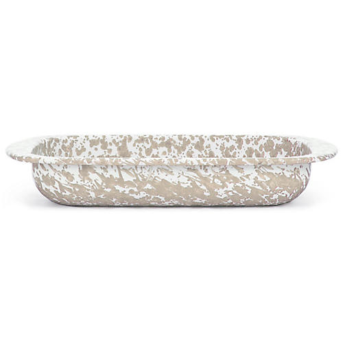 Swirl Baking Pan, Taupe/White