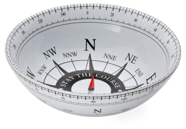 Compass Round Serving Bowl