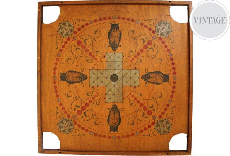 Vintage Owl Carom Game Board