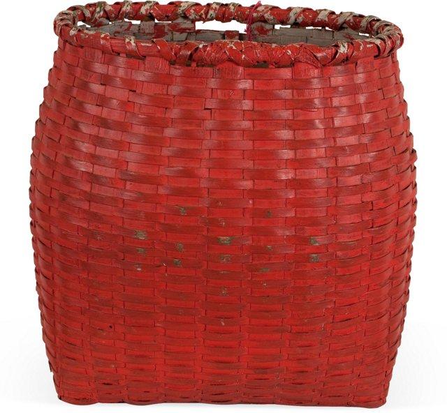 Salmon-Painted Pack Basket