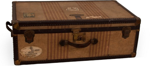 1920s Monogrammed Trunk
