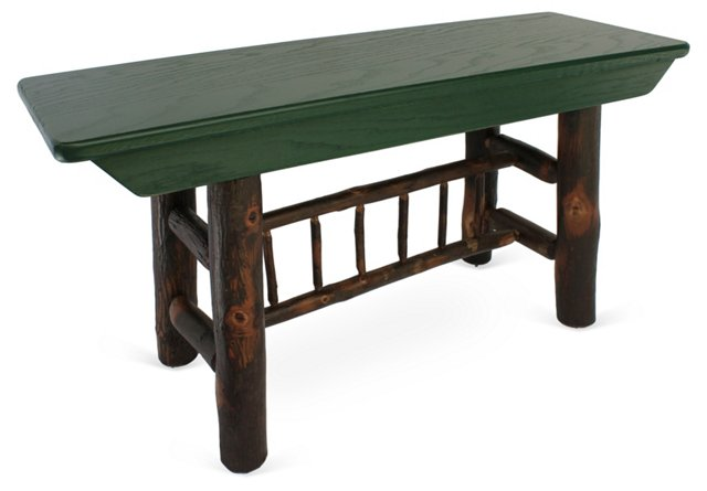 Hickory Spindle Bench Small, Green