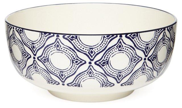Medallion Salad Bowl, Blue