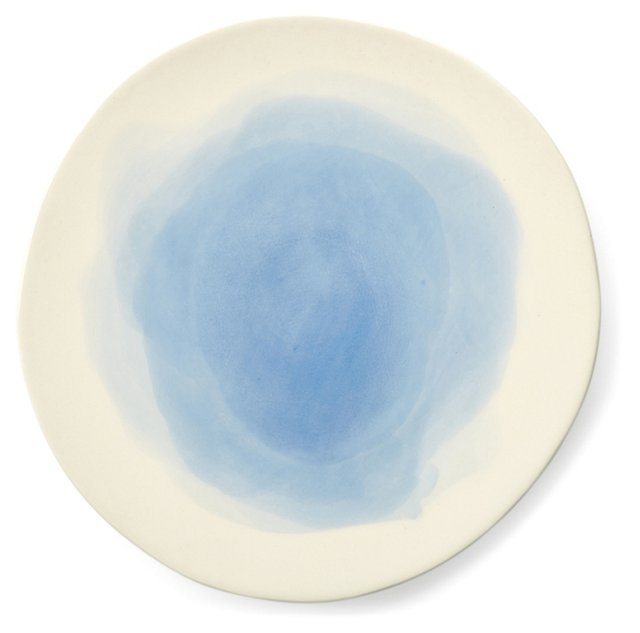 S/4 Hand-Painted Splash Salad Plates