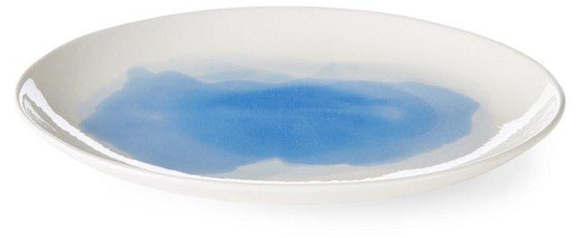 Hand-Painted Splash Oval Platter