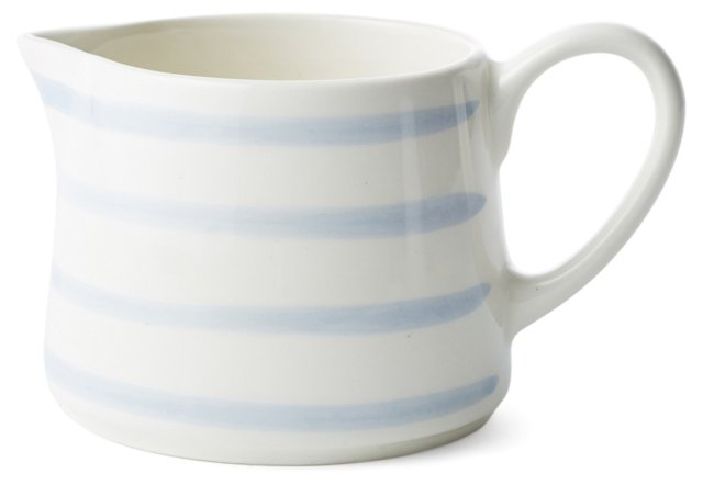 Striped Creamer, Blue