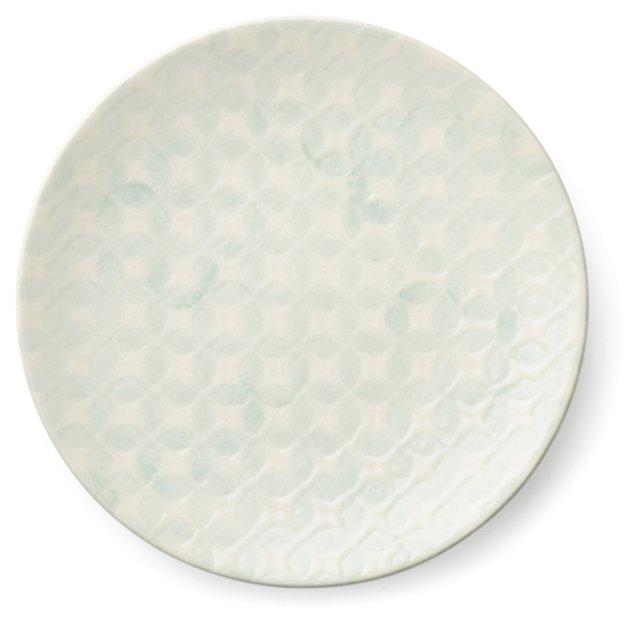 S/4 Reactive Glaze Plates, Teal