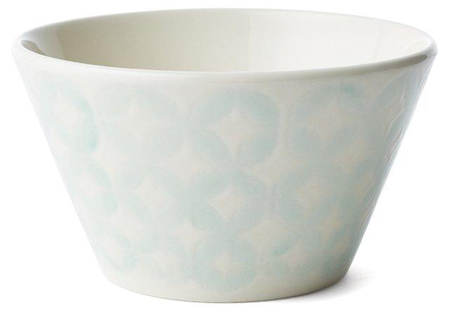 S/4 Reactive Glaze Bowls, Teal