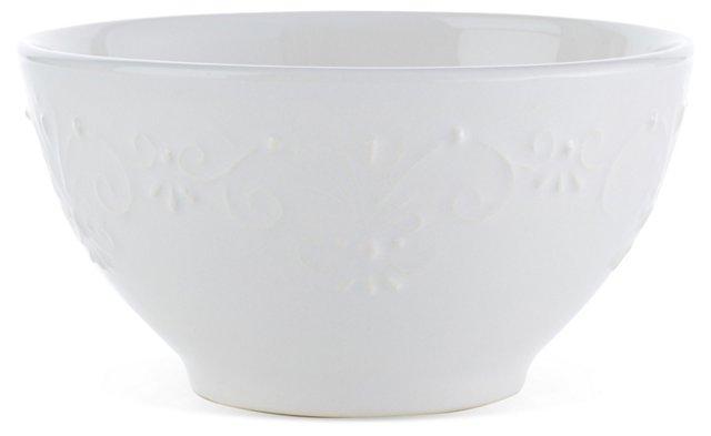 S/4 Laurel Bowls, White