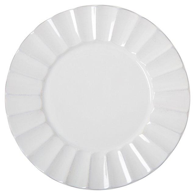 S/4 Medallion Dinner Plates, White