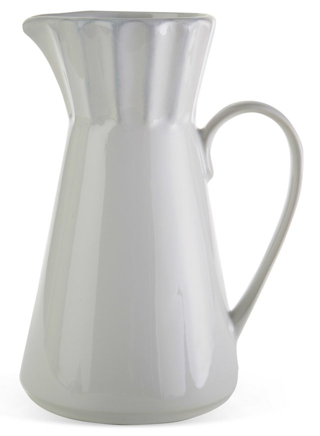 Medallion Pitcher, White