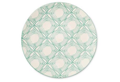 S/4 Medallion Salad Plates, Mint