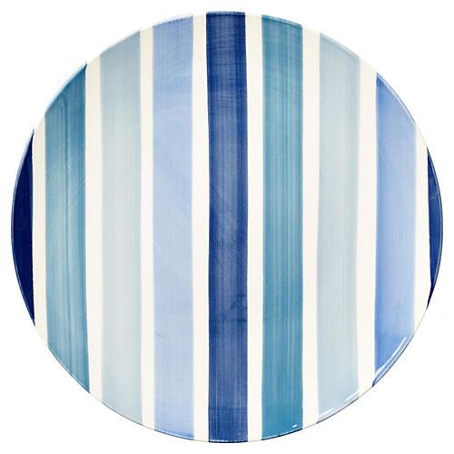 S/4 Tonal Stripe Salad Plates