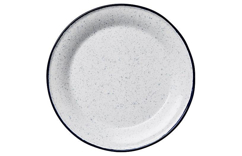 S/4 Enamel-Inspired Salad Plates, Blue