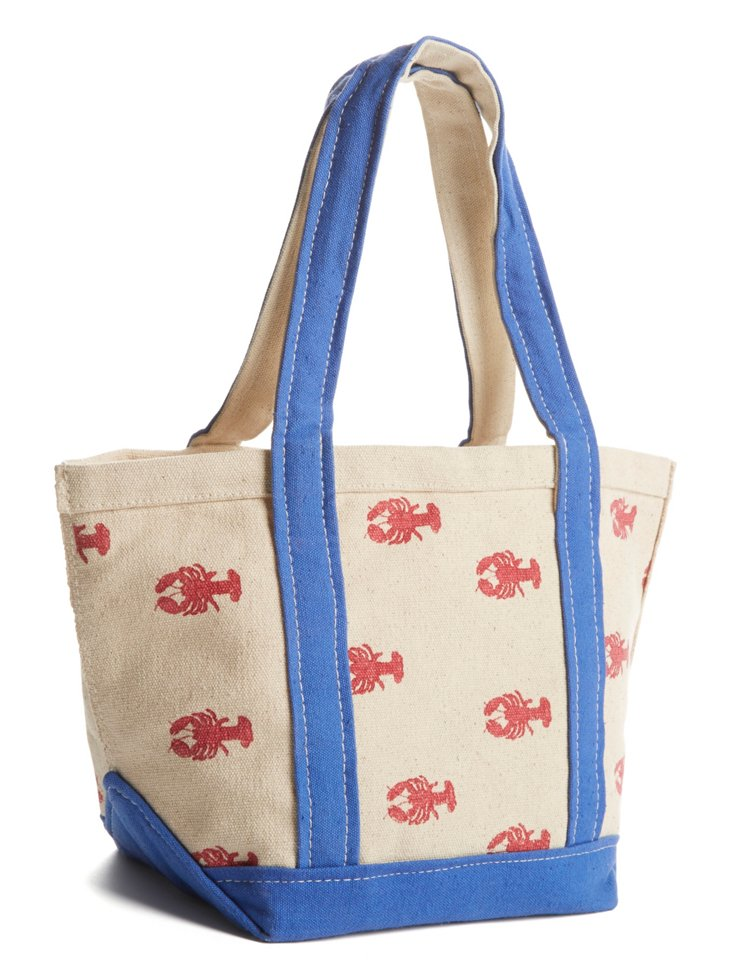 Mini Lobster Tote, Red/Blue
