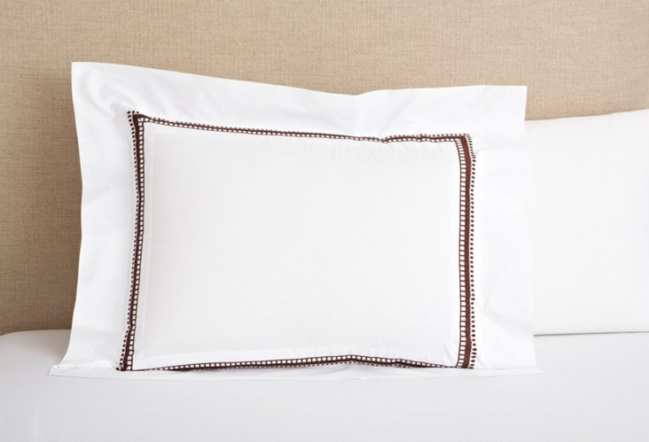 Addis Sham, White/Coffee
