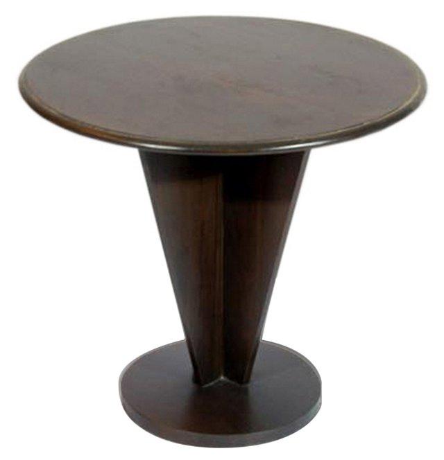 Audrey Round Side Table, Chestnut