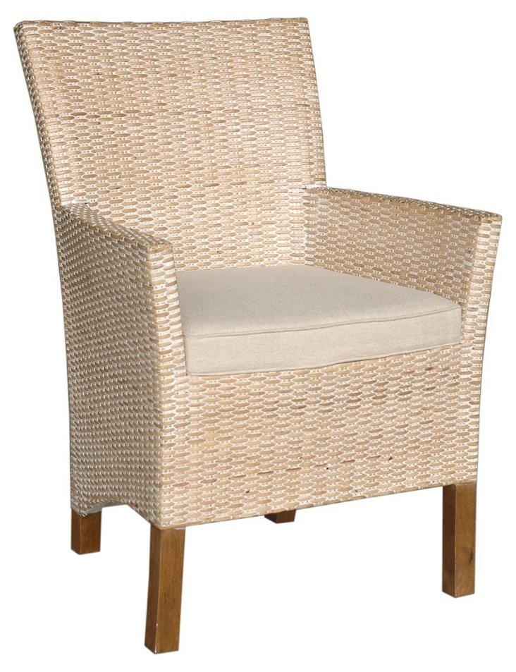 Hailey Armchair, Beige/Almond