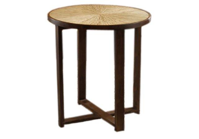 Habitat Sunburst End Table, Pecan
