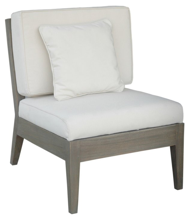 Newport Occasional Chair, Gray/White