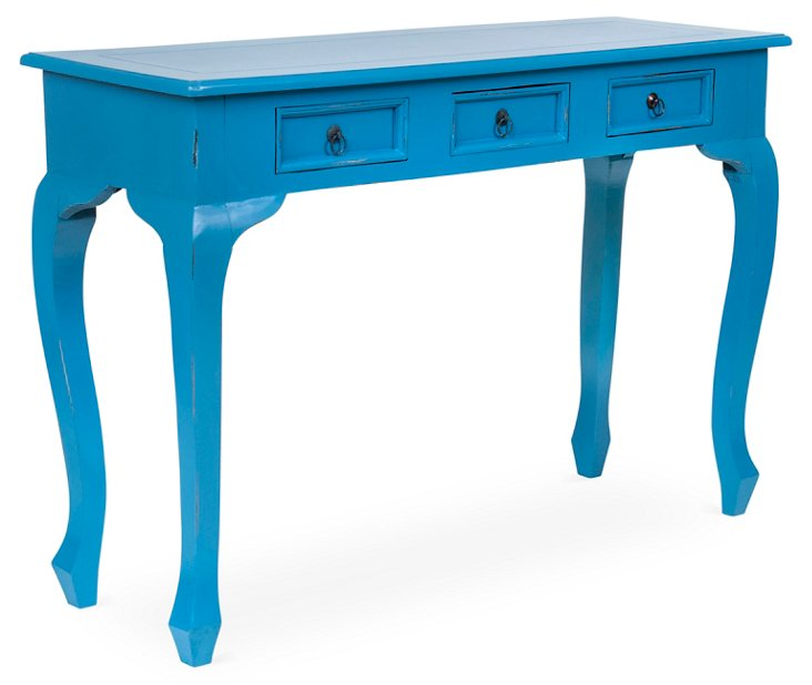 Erica Console Table, Blue