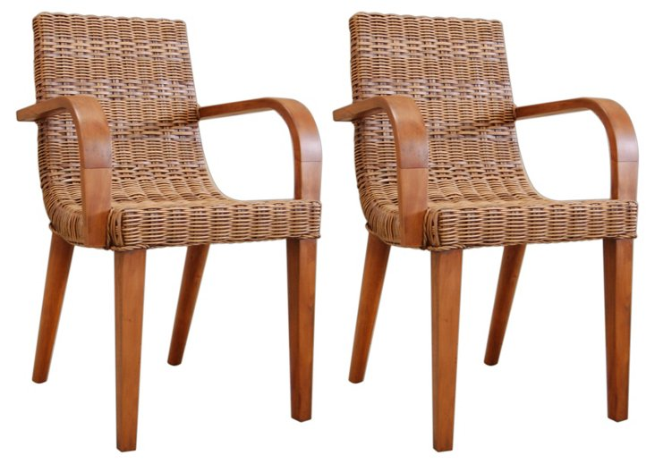 Max Dining Armchairs, Pair