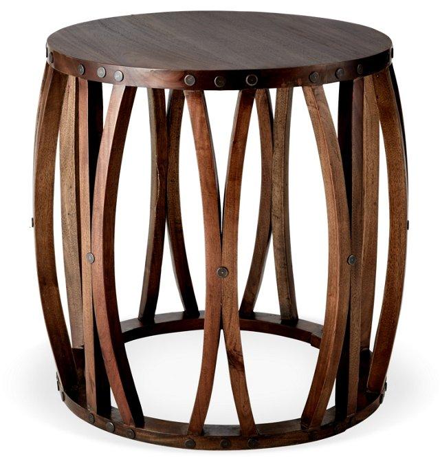 Alexander Barrel Side Table, Teak