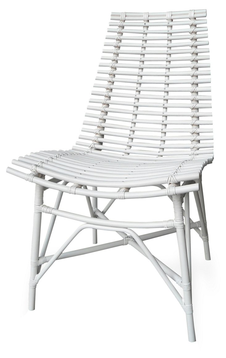 Claiborne Side Chair, White