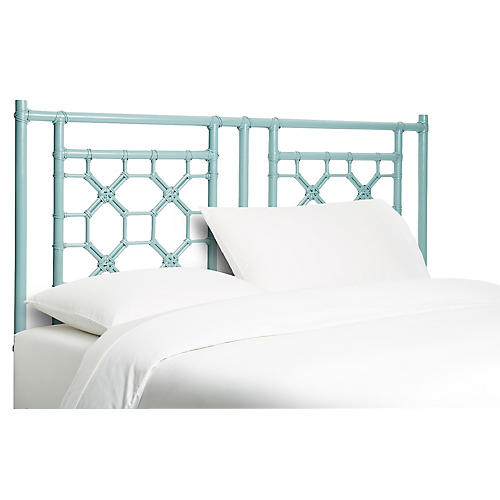 Blue Bernadette Headboard, Queen