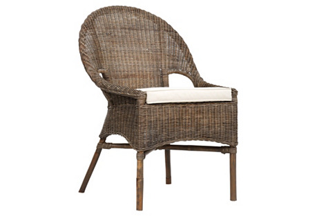 Marco Round-Back Armchair, Natural
