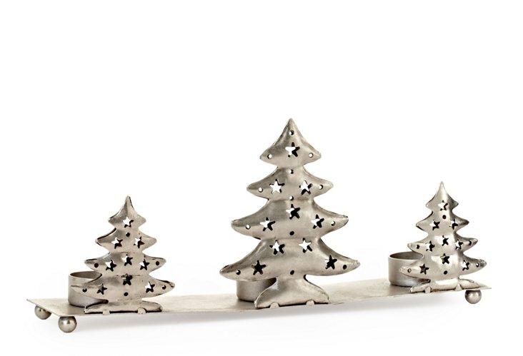 Metal Tree Triple Votive Holder