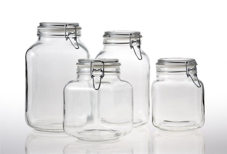 discontS/4 Assorted Hermetic Jars, Large