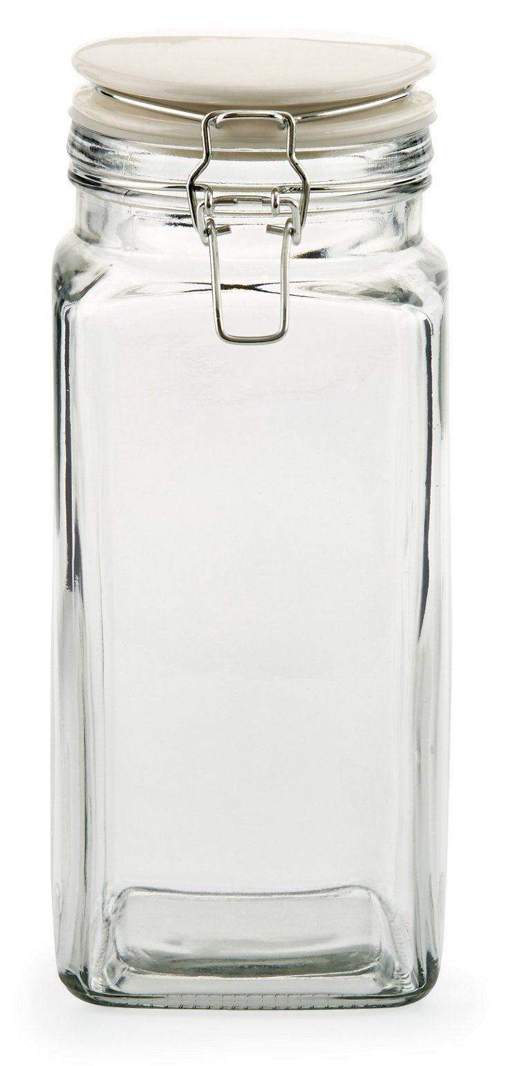 S/3 Cresta Quadra Jars, 64 Oz