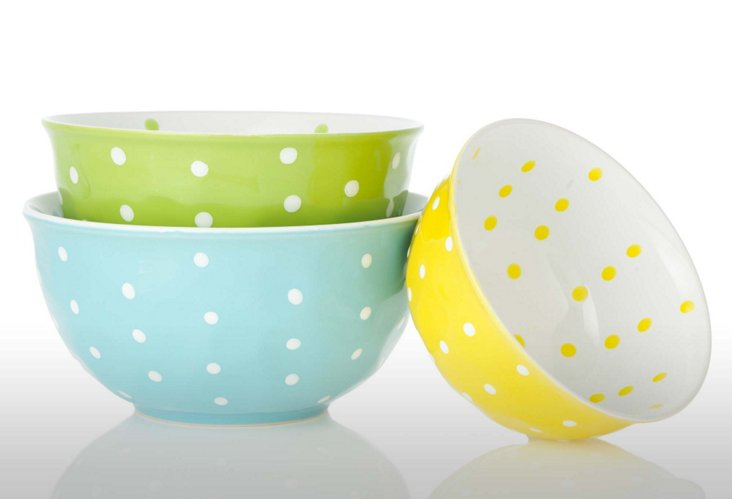 S/3 Nesting Bistro Mixing Bowls