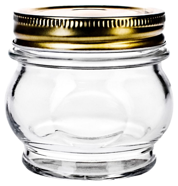 S/4 Canning Jars, Clear