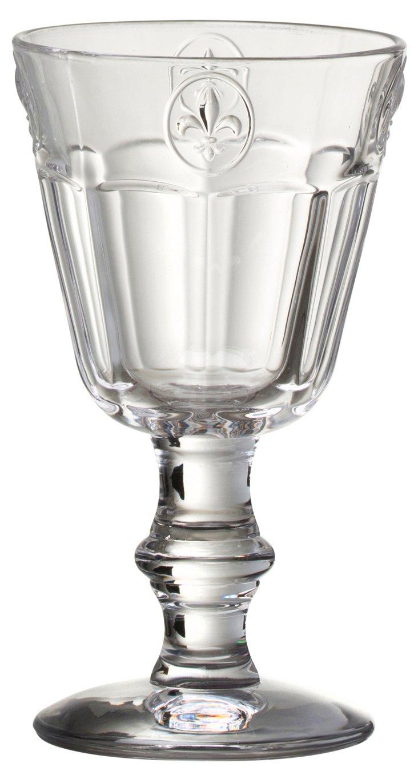 S/6 Fleur-de-Lis Clear Goblets
